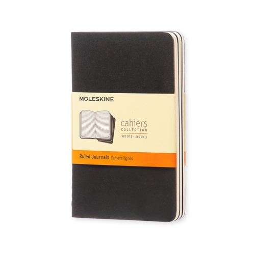 MOLESKINE CAHIERS - POCKET BLACK RULED