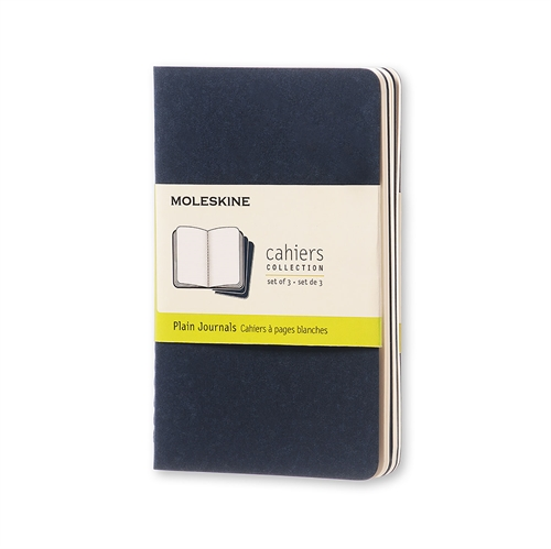 MOLESKINE CAHIERS - POCKET BLUE PLAIN