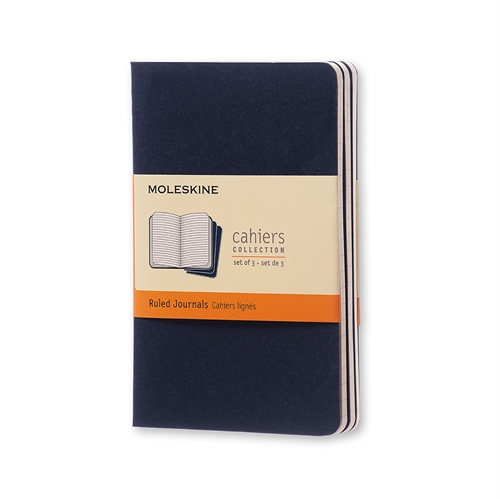 MOLESKINE CAHIERS - POCKET BLUE RULED