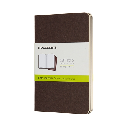 MOLESKINE CAHIERS - POCKET BROWN PLAIN
