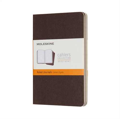 MOLESKINE CAHIERS - POCKET BROWN RULED