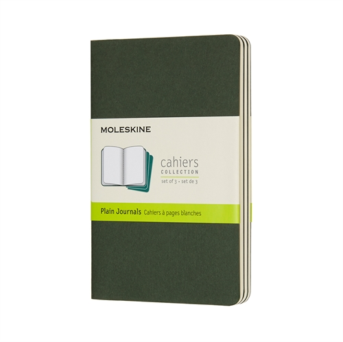 MOLESKINE CAHIERS - POCKET GREEN PLAIN