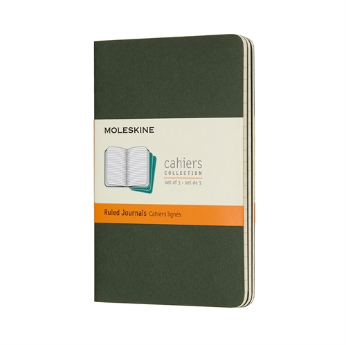 MOLESKINE CAHIERS - POCKET GREEN RULED