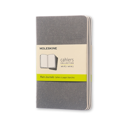 MOLESKINE CAHIERS - POCKET GREY PLAIN
