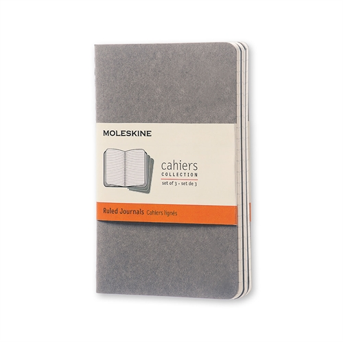 MOLESKINE CAHIERS - POCKET GREY RULED