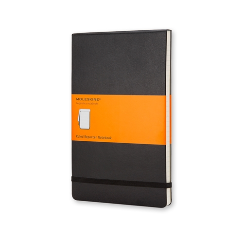 MOLESKINE CLASSIC HARD COVER - LARGE BLACK RULED REPORTER