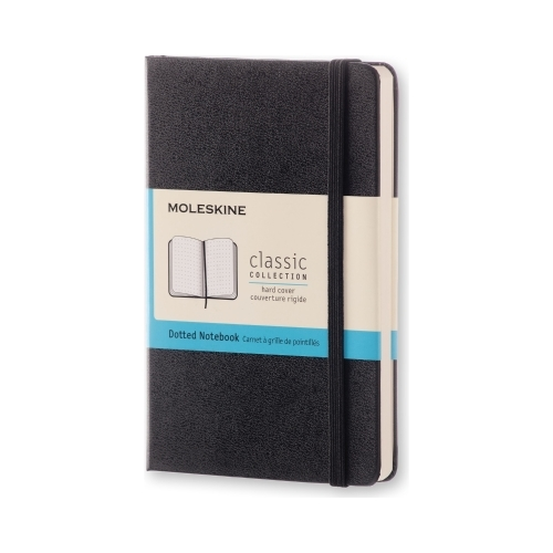 MOLESKINE CLASSIC HARD COVER - POCKET BLACK  DOTTED