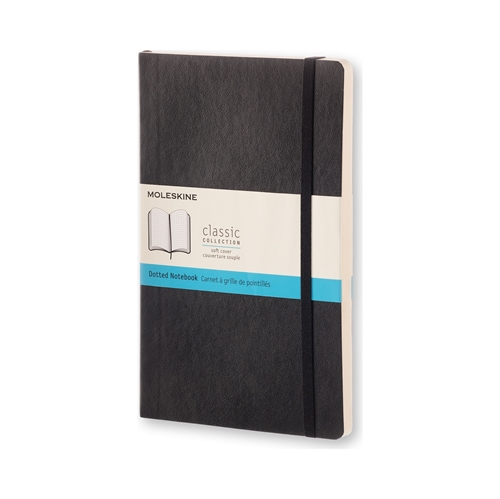 MOLESKINE CLASSIC SOFT COVER - LARGE BLACK DOTTED