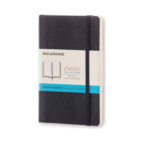 MOLESKINE CLASSIC SOFT COVER - POCKET BLACK DOTTED