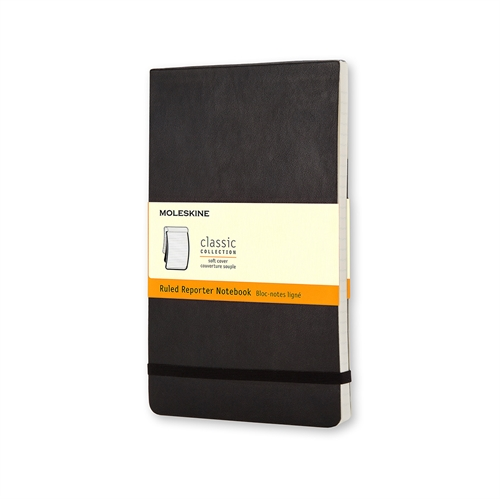 MOLESKINE CLASSIC SOFT COVER - POCKET BLACK RULED REPORTER