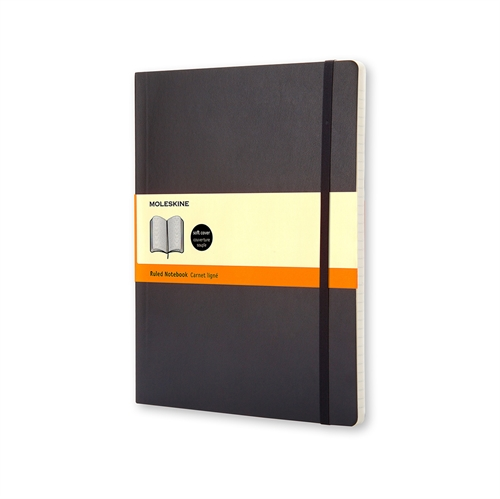 MOLESKINE CLASSIC SOFT COVER - XL BLACK RULED
