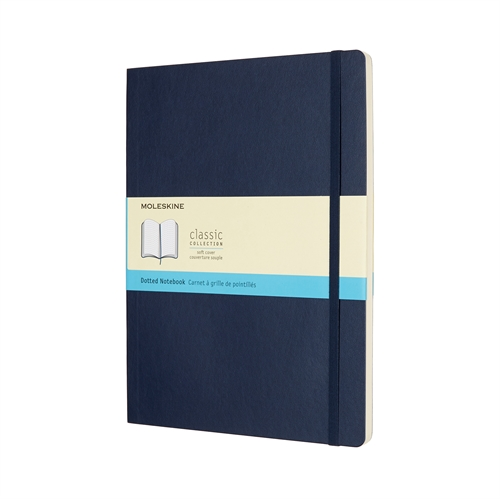 MOLESKINE CLASSIC SOFT COVER - XL BLUE DOTTED