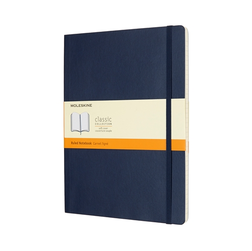 MOLESKINE CLASSIC SOFT COVER - XL BLUE RULED