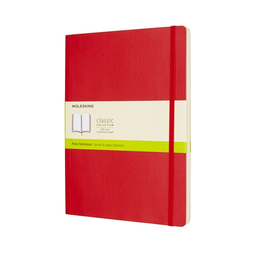 MOLESKINE CLASSIC SOFT COVER - XL RED PLAIN