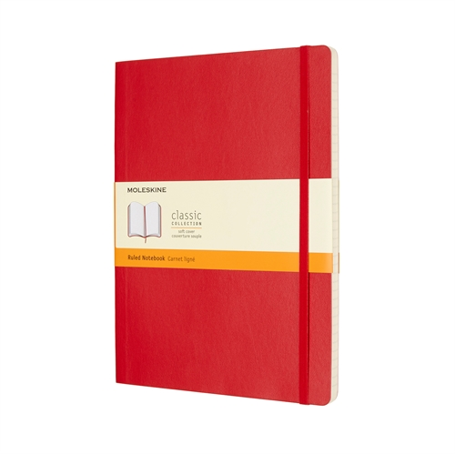 MOLESKINE CLASSIC SOFT COVER - XL RED RULED