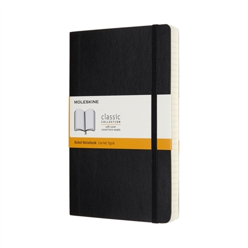 MOLESKINE EXPANDED CLASSIC SOFT COVER NOTEBOOK - LARGE BLACK RULED