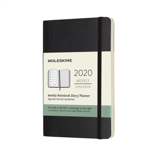 MOLESKINE SOFT COVER WEEKLY NOTEBOOK DIARY 2020 - POCKET BLACK